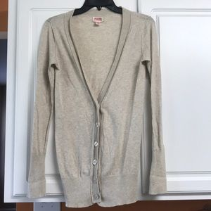 Mossomo Supply Co  XS Beige Cardigan sweater